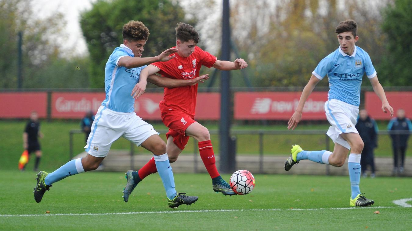 Liverpool v Manchester City  Under-18 Premier League in pictures GettyImages 495087870
