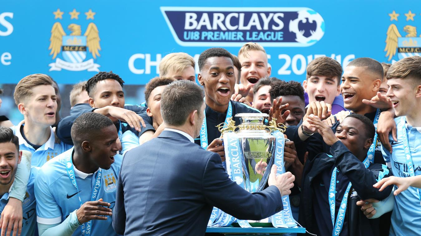 Manchester City win U18 Premier League