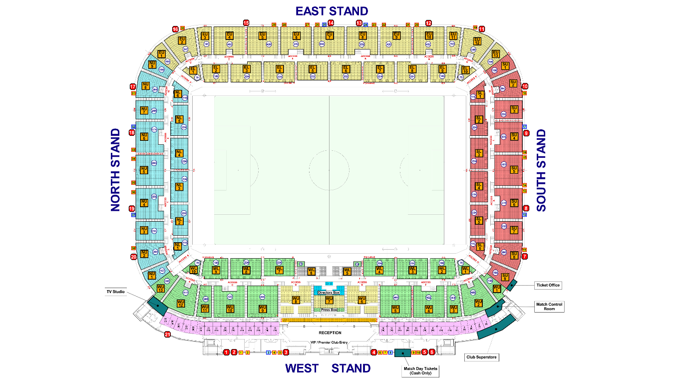 Liberty Stadium map