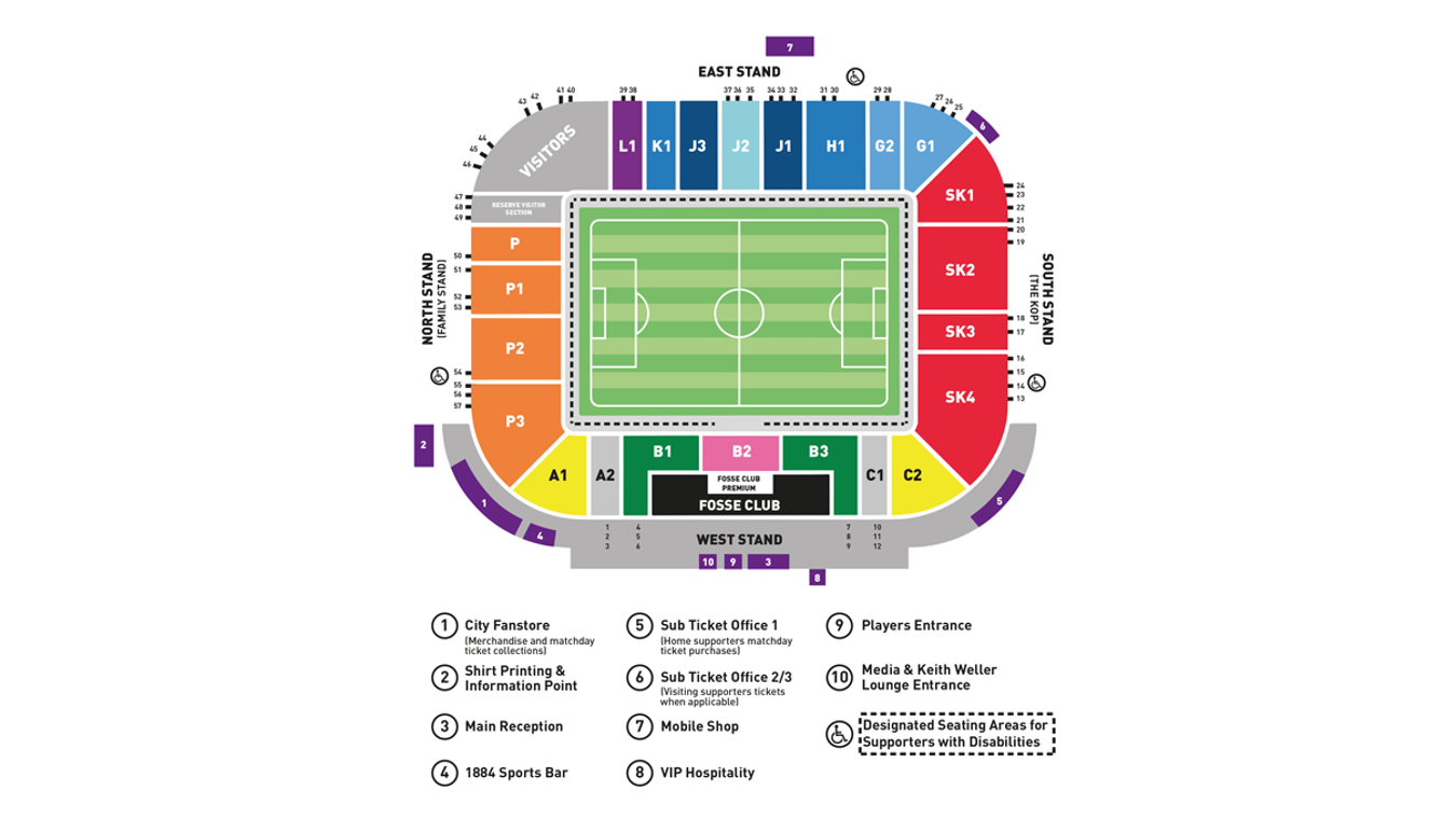 King Power Stadium map