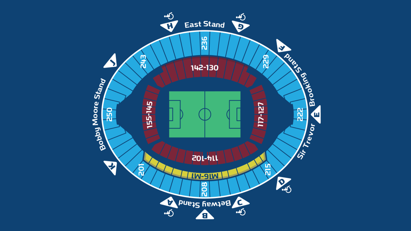 London Stadium map