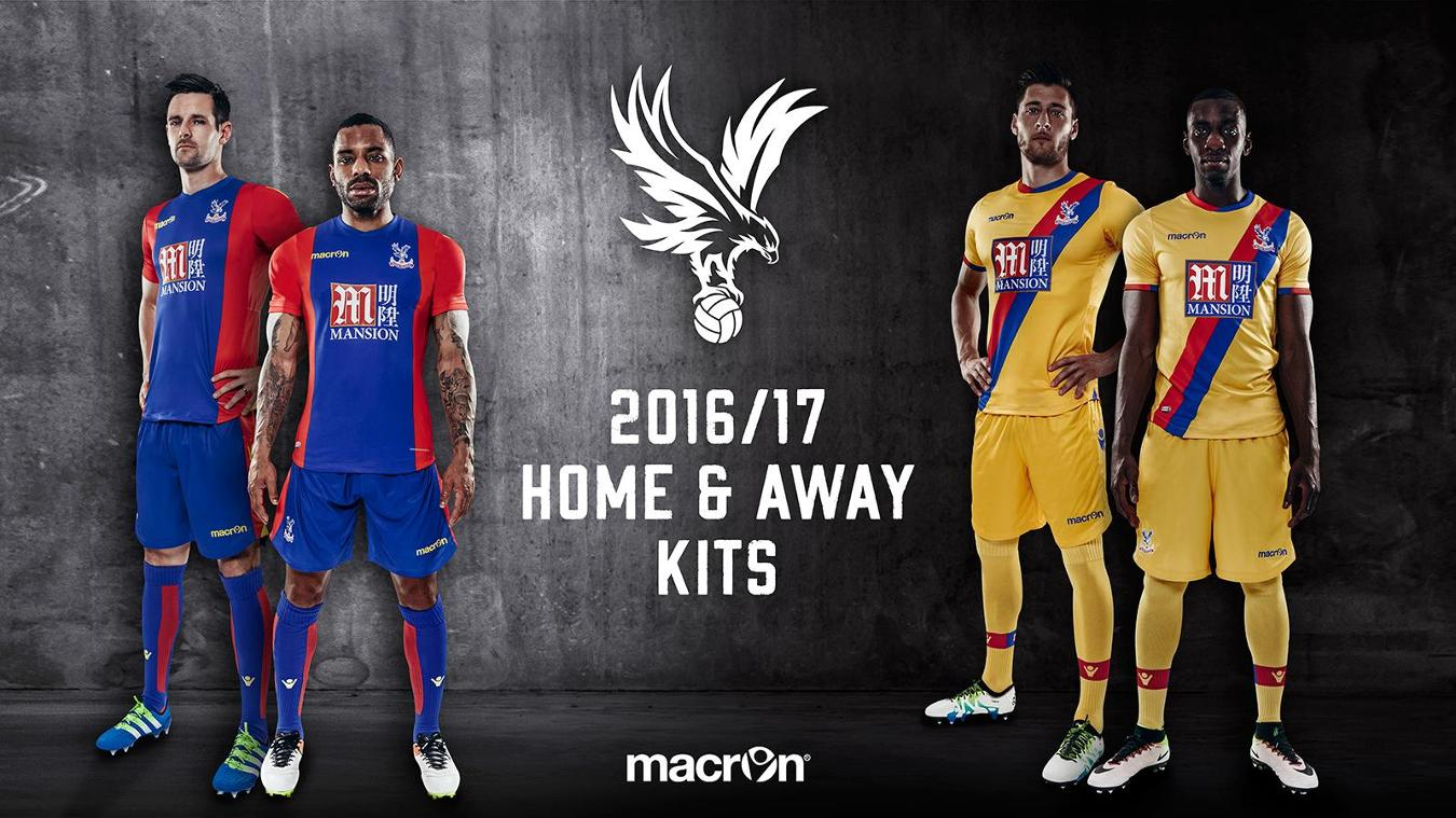 Crystal Palace home and away kit