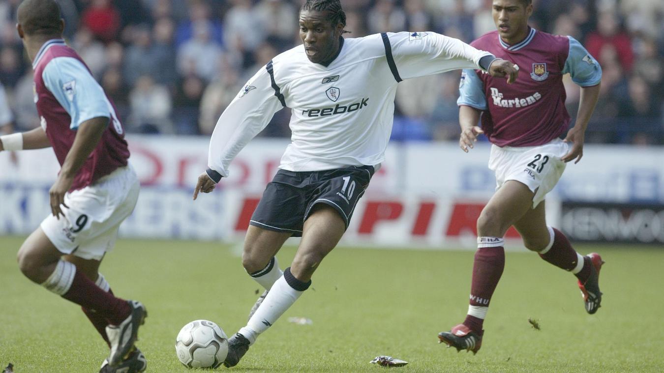 Jay Jay Okocha on the ball for Bolton Wanderers
