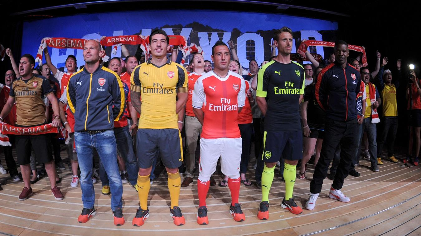 Arsenal's away, home and third kits