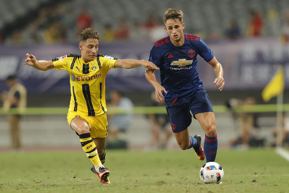 Adnan Januzaj in pre-season action for Manchester United