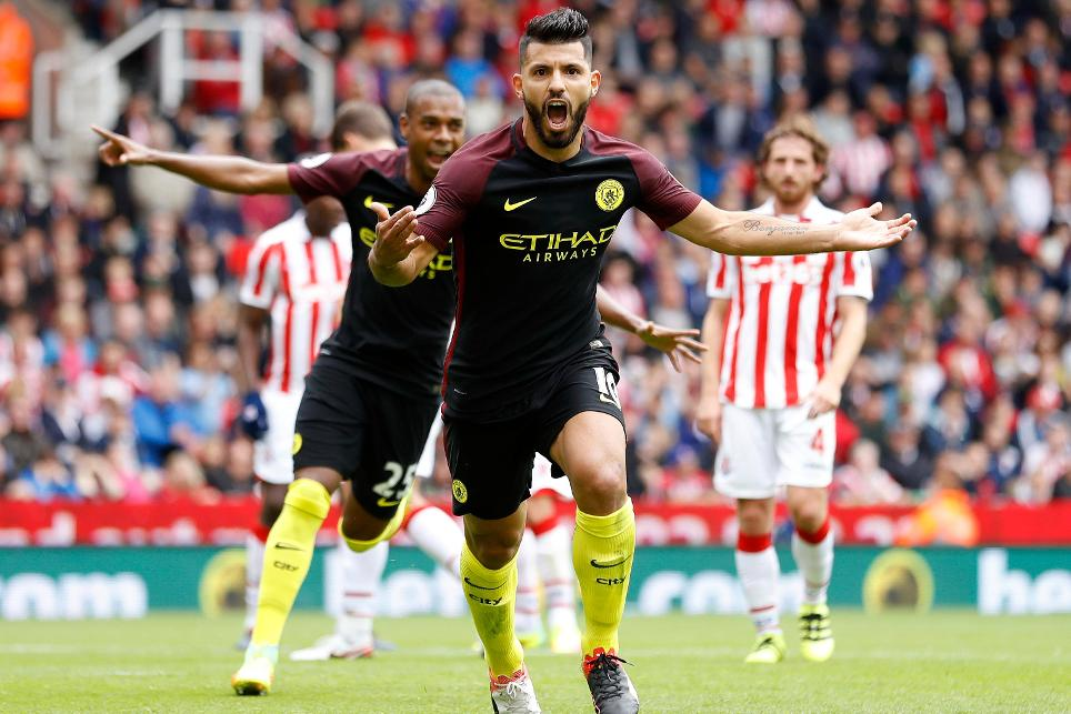 Sergio Aguero, Stoke City vs Manchester City
