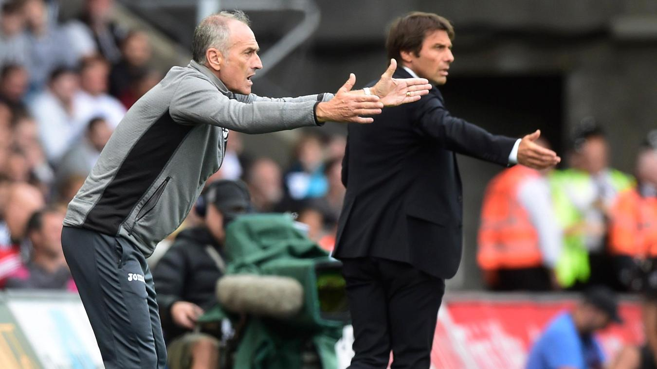 Francesco Guidolin, Swansea City v Chelsea, 110916