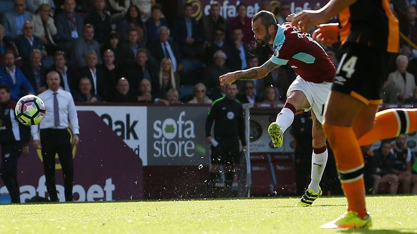 Steven Defour goal, Burnley vHull City, 100916
