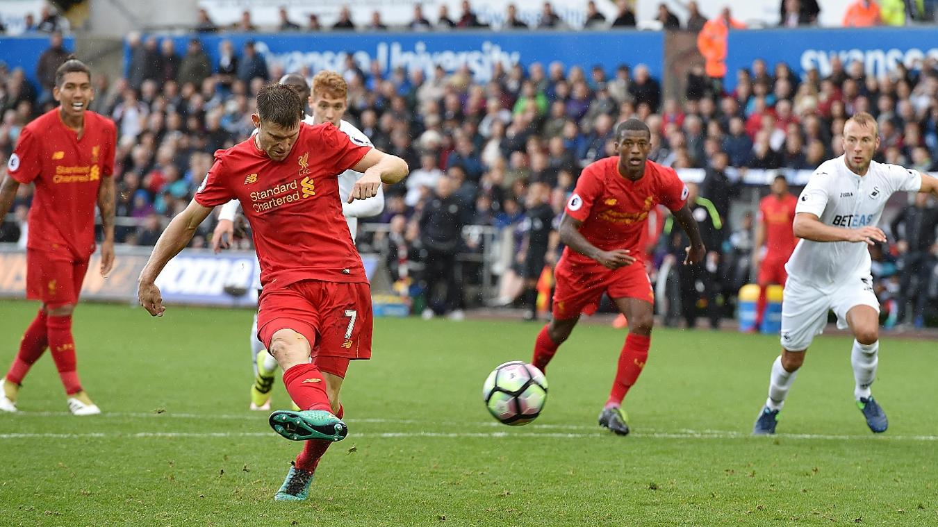 Swansea City v Liverpool, 011016, James Milner