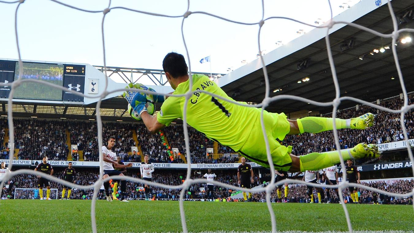 Tottenham Hotspur v Manchester City - Premier League, Bravo penalty save