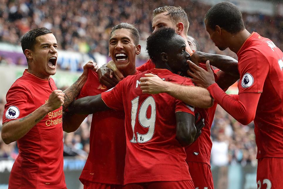 Swansea City v Liverpool, Firmino cele