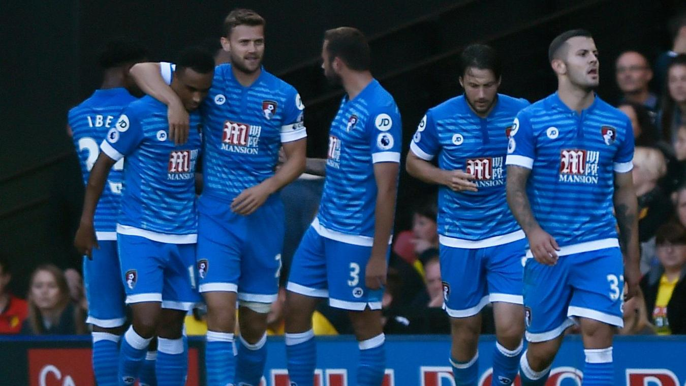 Watford v AFC Bournemouth - Premier League, Callum Wilson goal cele
