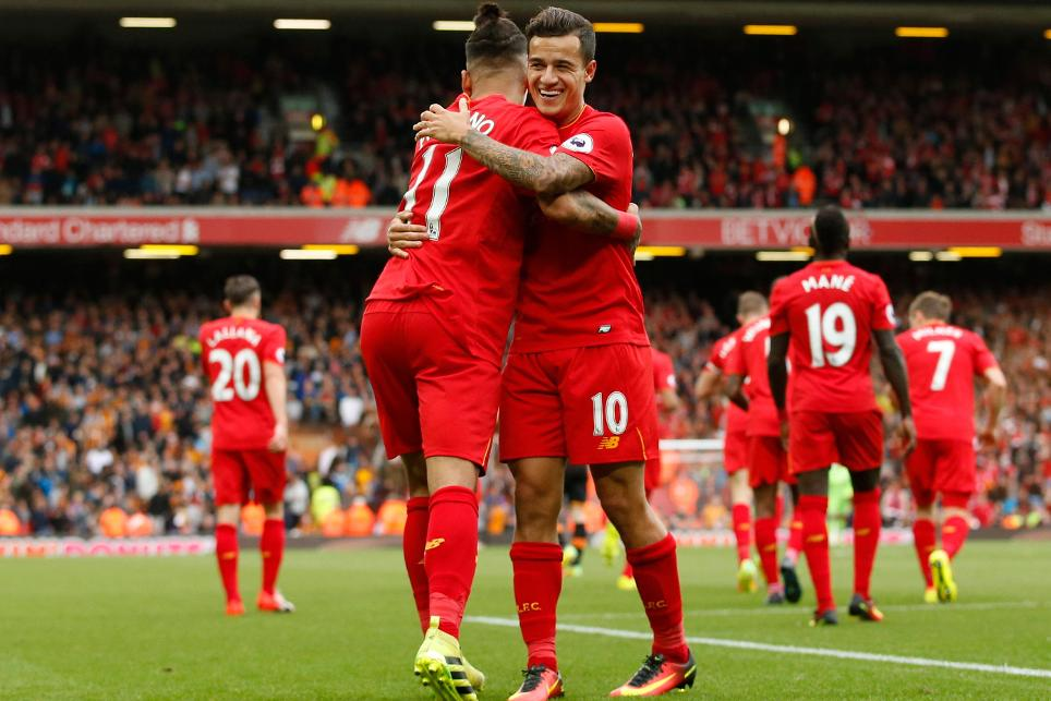 Roberto Firmino and Philippe Coutinho, Liverpool