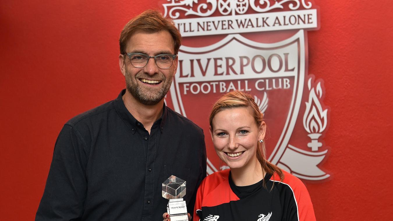Victoria Jepson, Liverpool FC Foundation, Jurgen Klopp, 091016