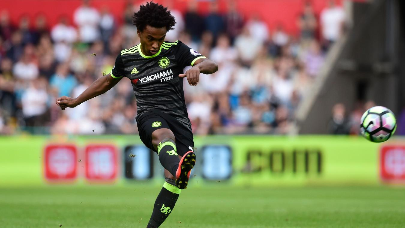 Swansea City v Chelsea - Premier League, Willian