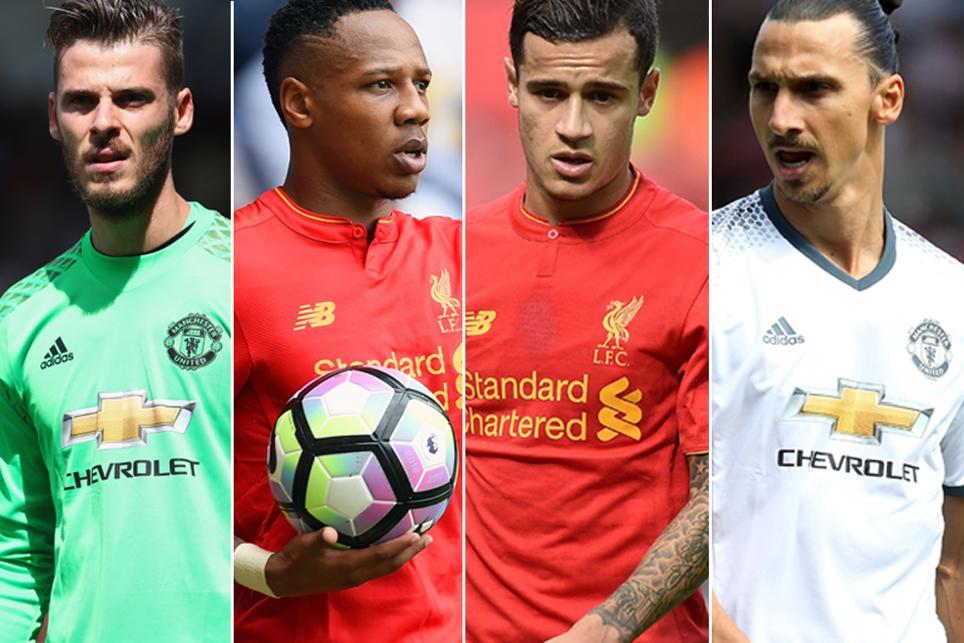 David De Gea, Nathaniel Clyne, Philippe Coutinho, Zlatan Ibrahimovic