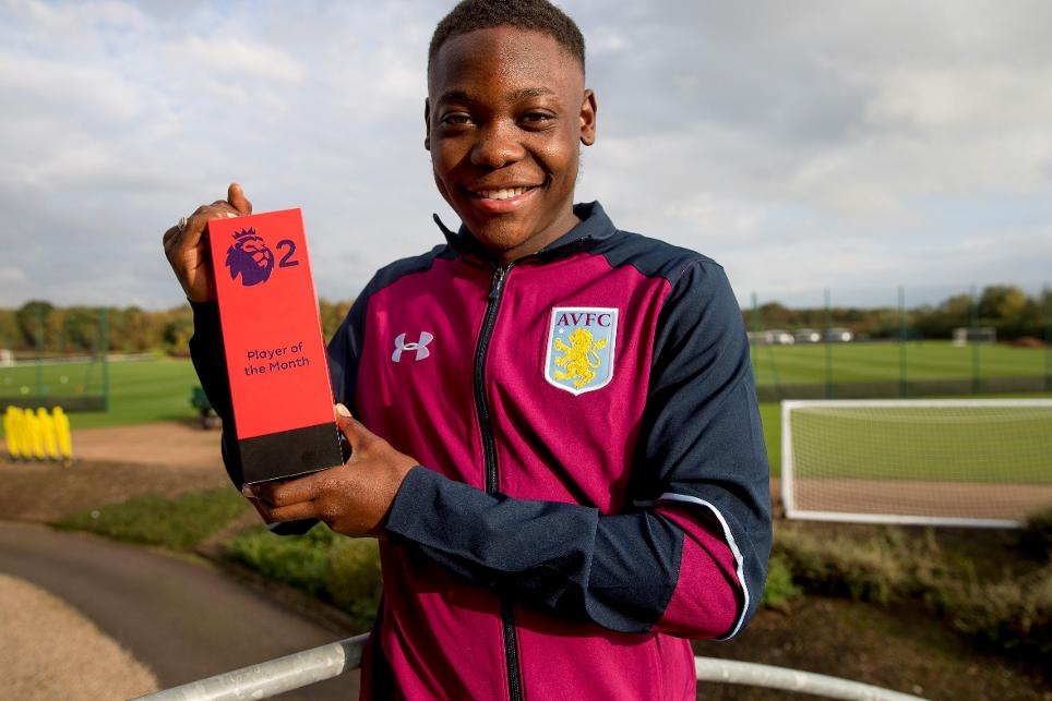 Rushian Hepburn-Murphy, September's Premier League 2 Player of the Month