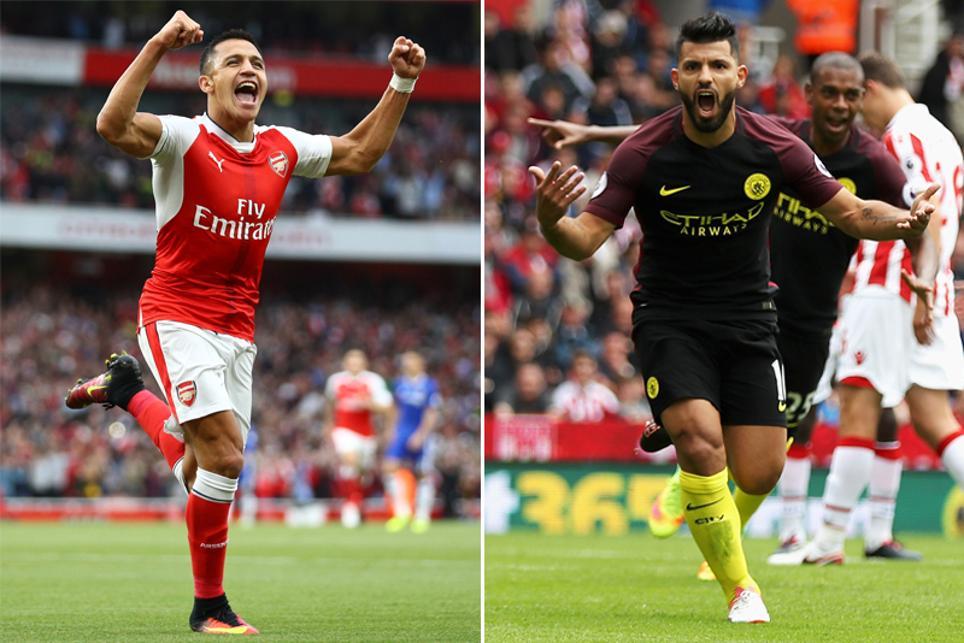 Arsenal's Alexis Sanchez and Manchester City's Sergio Aguero