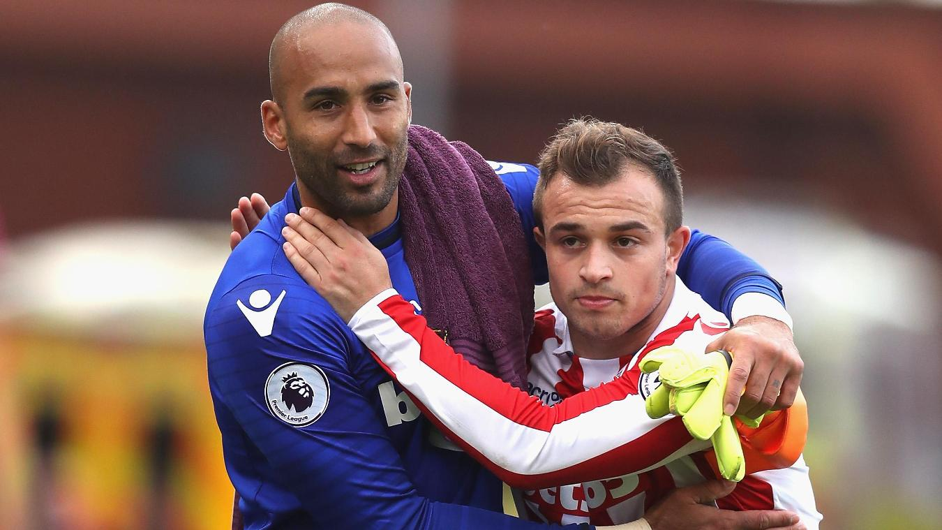 Lee Grant and Xherdan Shaqiri