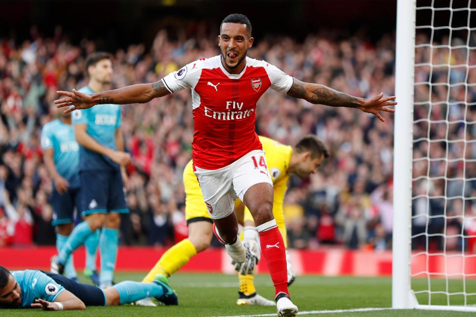 Theo Walcott, Arsenal v Swansea City