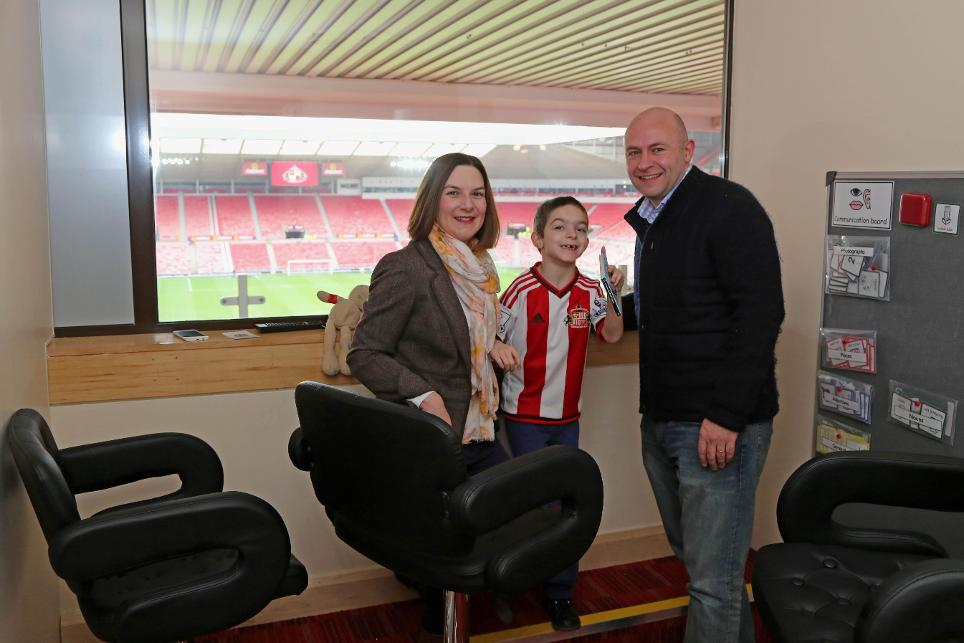 Sunderland's sensory room at the Stadium of Light