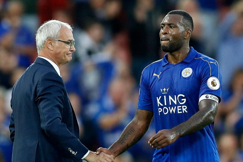Claudio Ranieri and Wes Morgan, Leicester