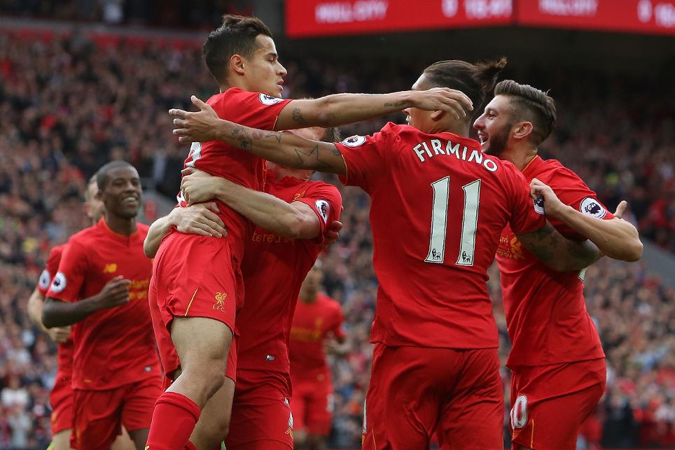 Liverpool, Coutinho, Firmino, Lallana