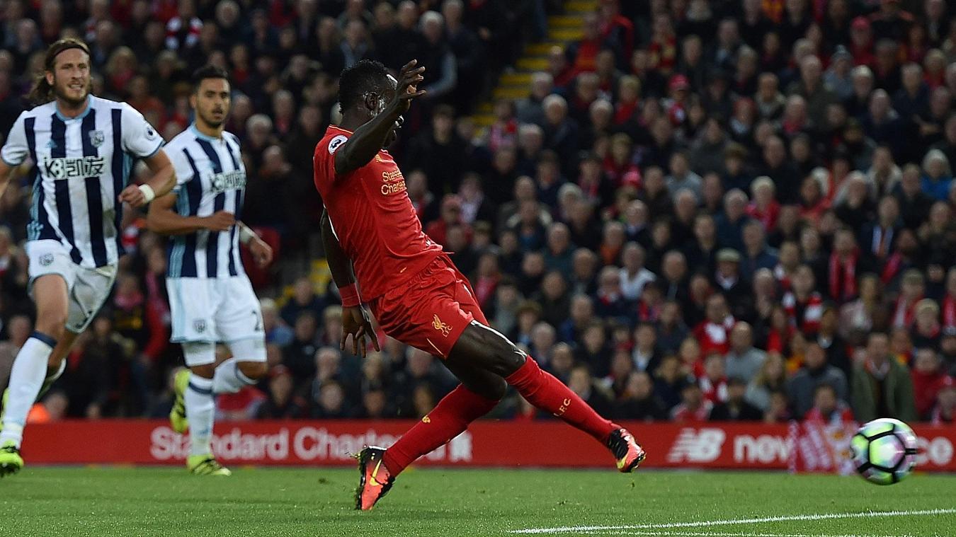 Liverpool v West Bromwich Albion, Mane goal, 221016