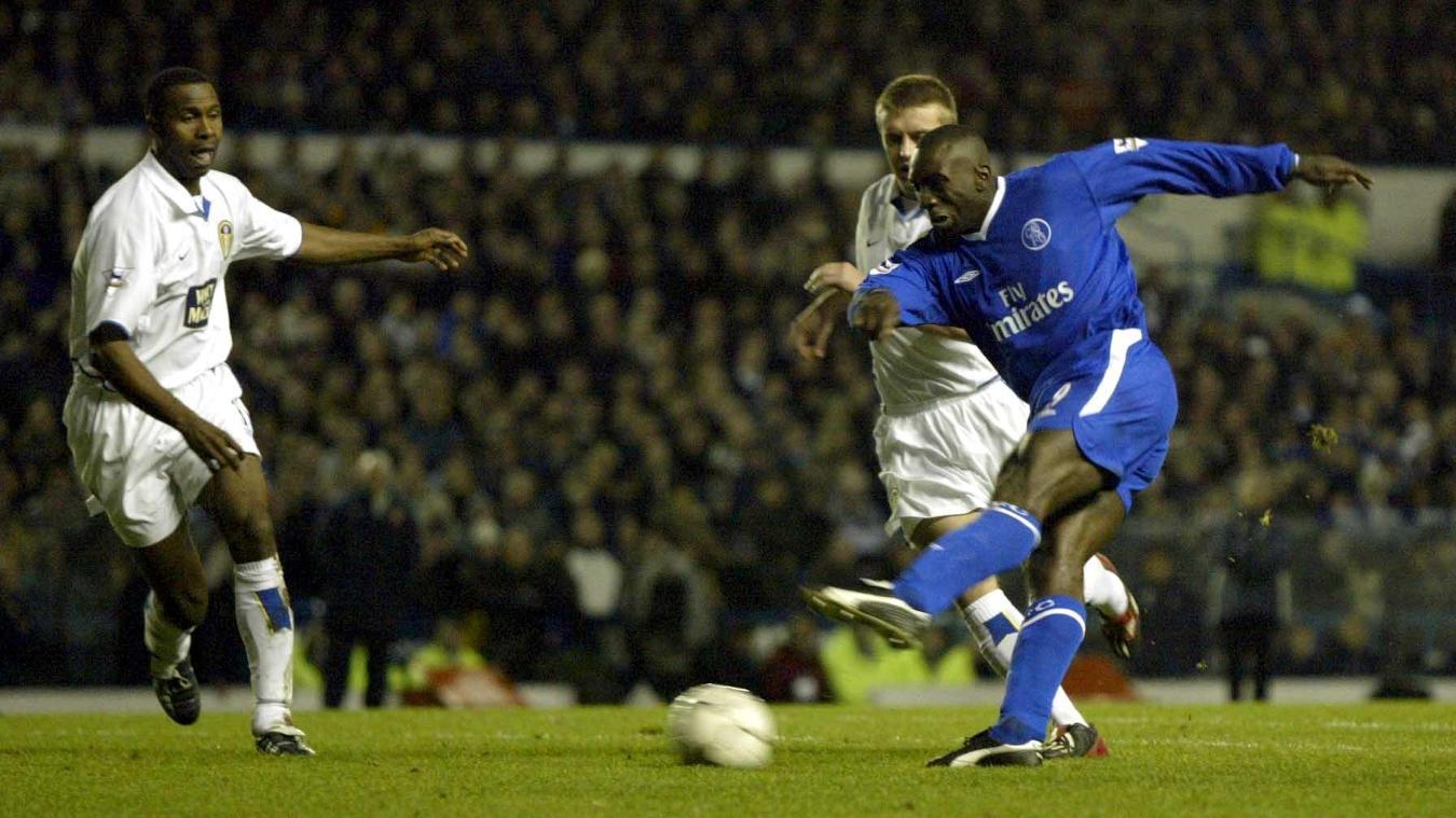 Leeds United v Chelsea - 6/12/03 Chelsea's Jimmy Floyd Hasselbaink shoots at goal