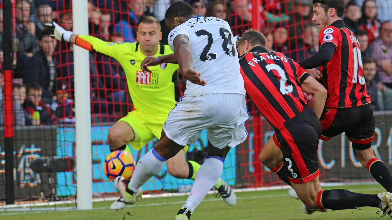 Victor Anichebe, goal, Bournemouth v Sunderland, 051116