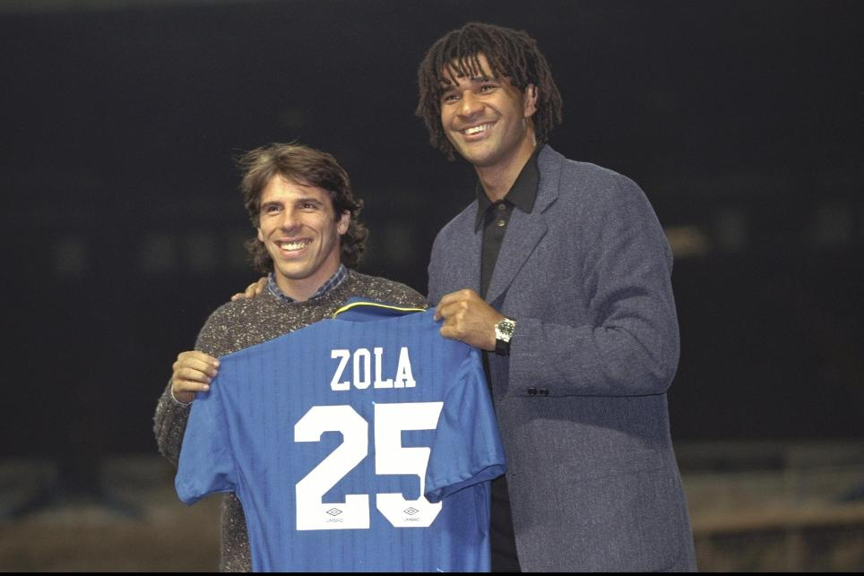 Gianfranco Zola signs for Chelsea
