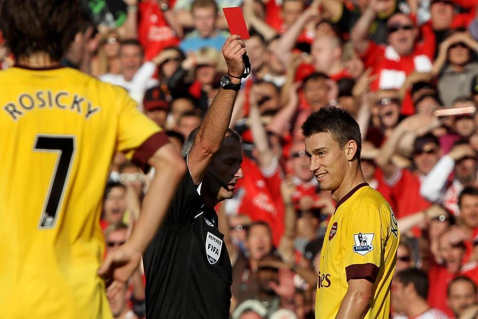 Laurent Koscielny, Arsenal v Liverpool, 2010