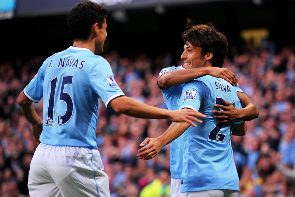Jesus Navas, David Silva, Man City