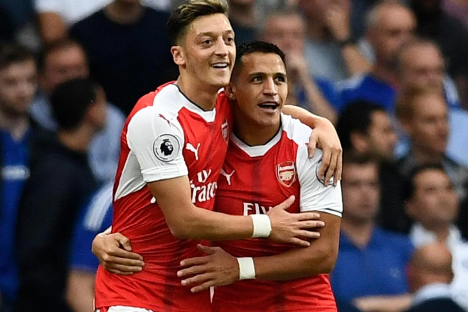 Arsenal v Chelsea, Ozil and Sanchez