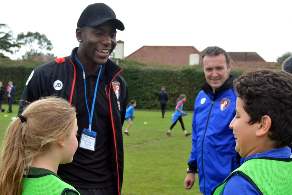 Benik Afobe, AFC Bournemouth, Primary Stars launch, 161116
