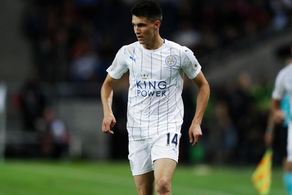 Bartosz Kapustka in action for Leicester City