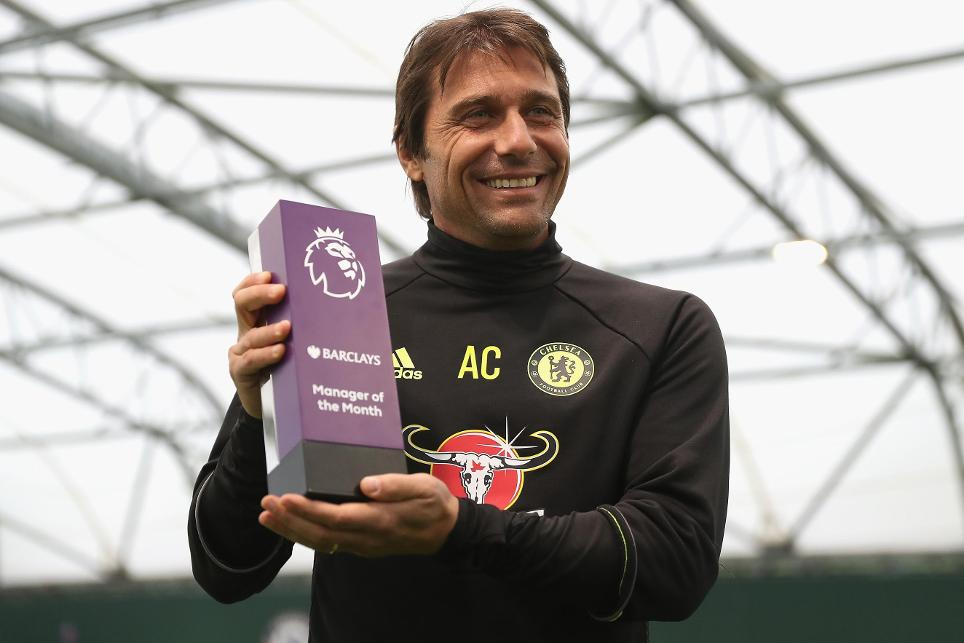 Antonio Conte wins October's Barclays Manager of the Month, 181116