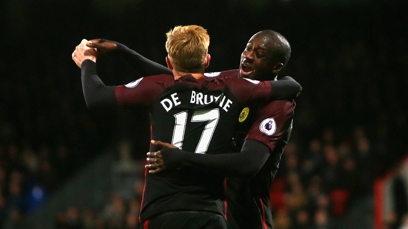 Yaya Toure, Kevin De Bruyne, Manchester City