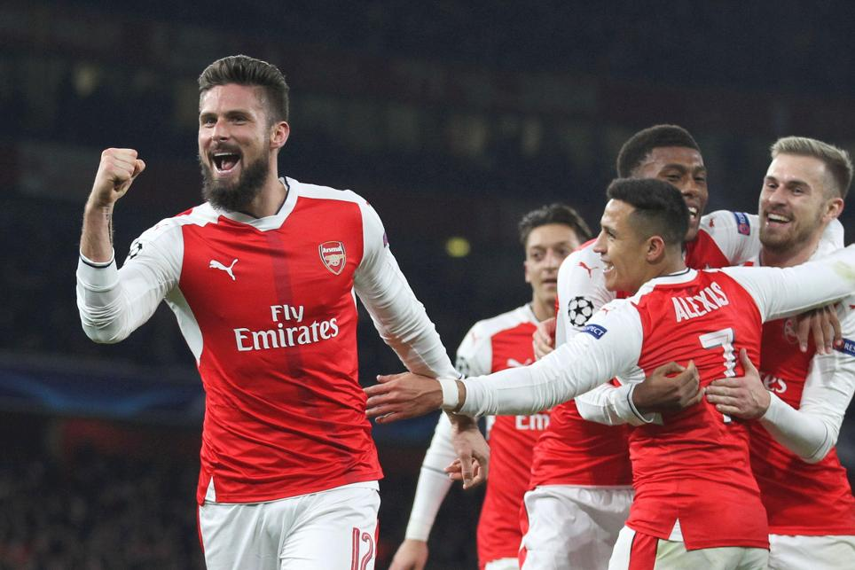 Olivier Giroud, Arsenal, UEFA Champions League