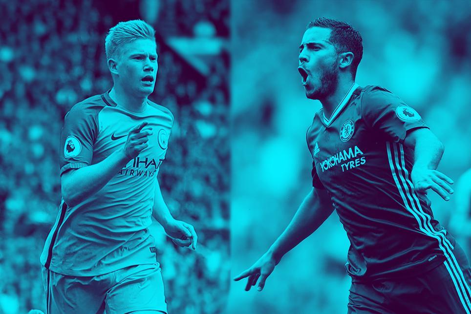 Man City v Chelsea: Kevin De Bruyne and Eden Hazard