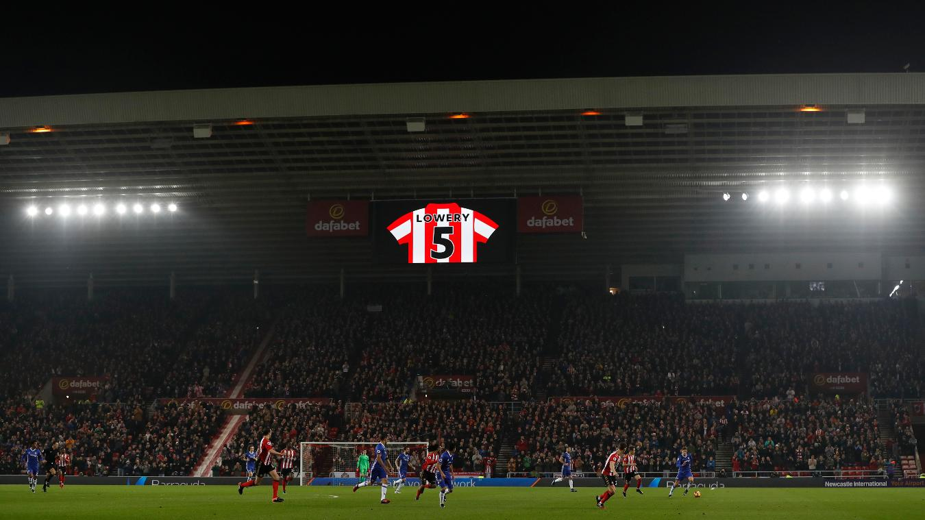 The minute's applause in honour of Sunderland mascot Bradley Lowery in the Sunderland-Chelsea match