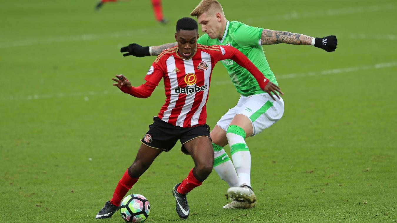 Joel Asoro, Sunderland v PSV, Premier League International Cup