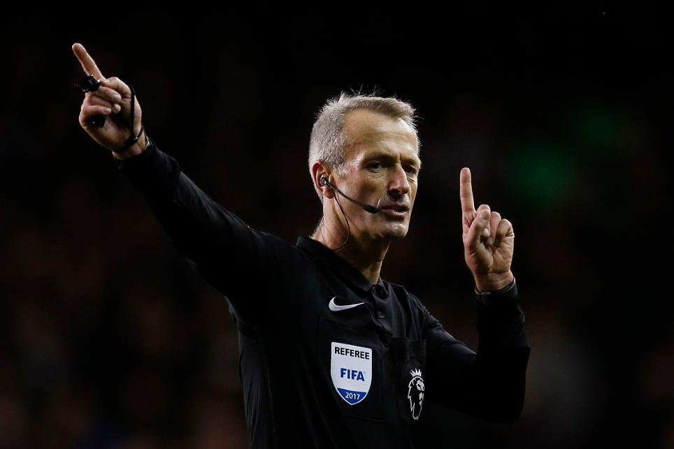 Referee Martin Atkinson