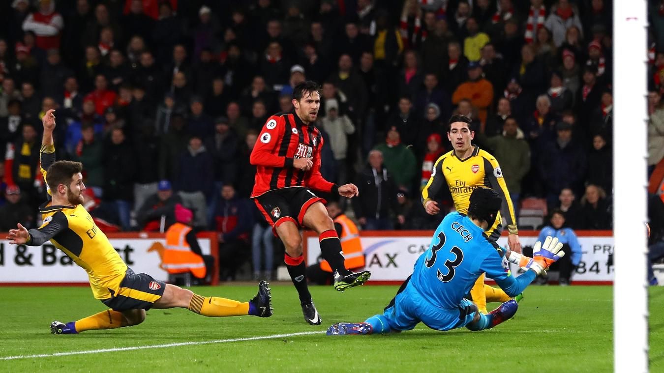 AFC Bournemouth v Arsenal, Charlie Daniels goal, 030117