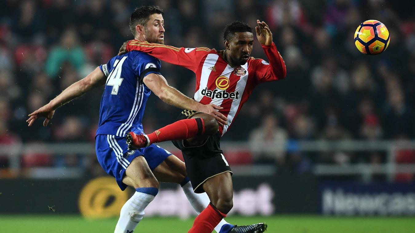 Sunderland v Chelsea, Jermain Defoe and Gary Cahill