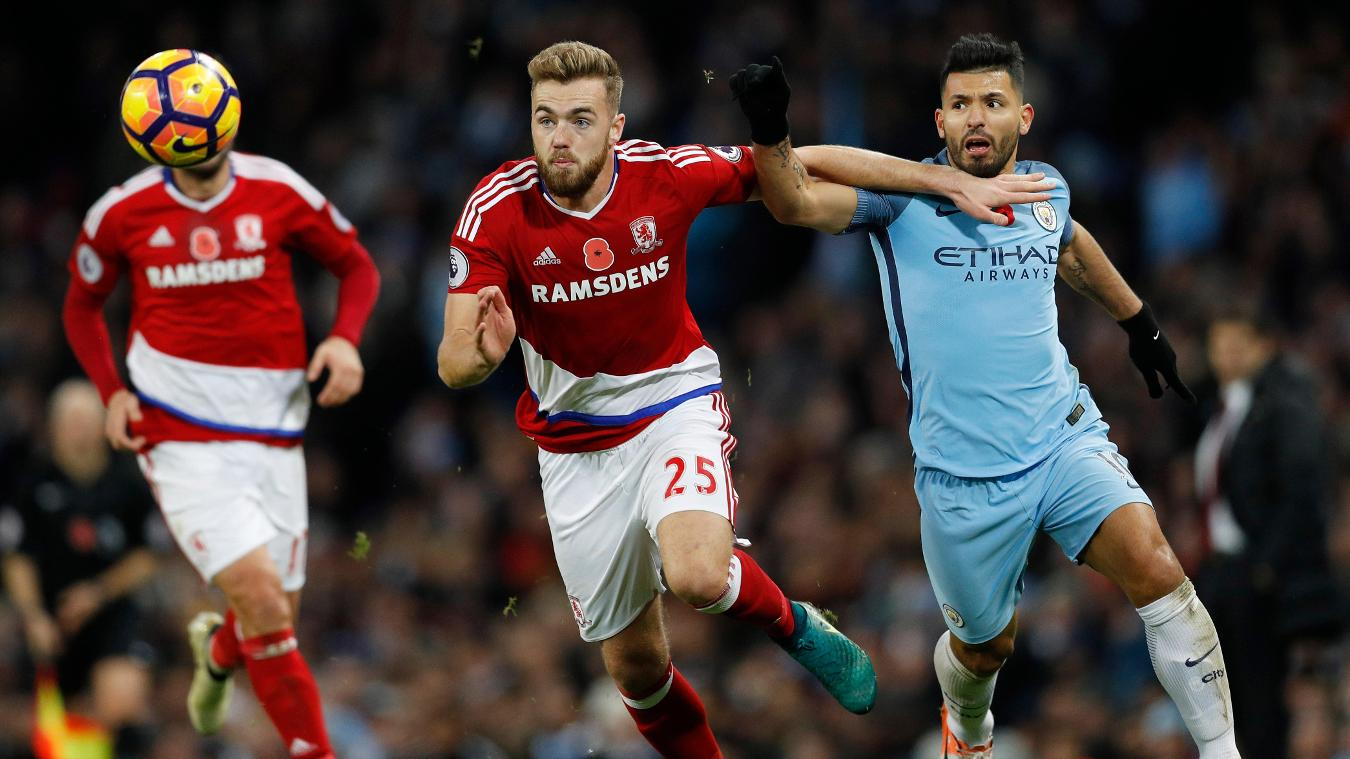 051116, Middlesbrough Calum Chambers, Man City v Middlesbrough