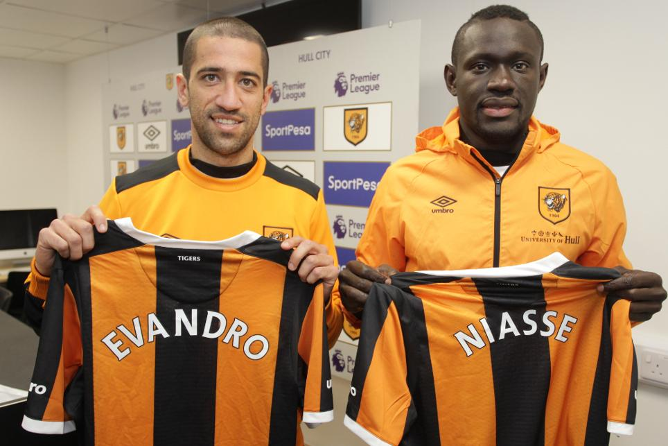 Hull City's new signings Evandro and Oumar Niasse