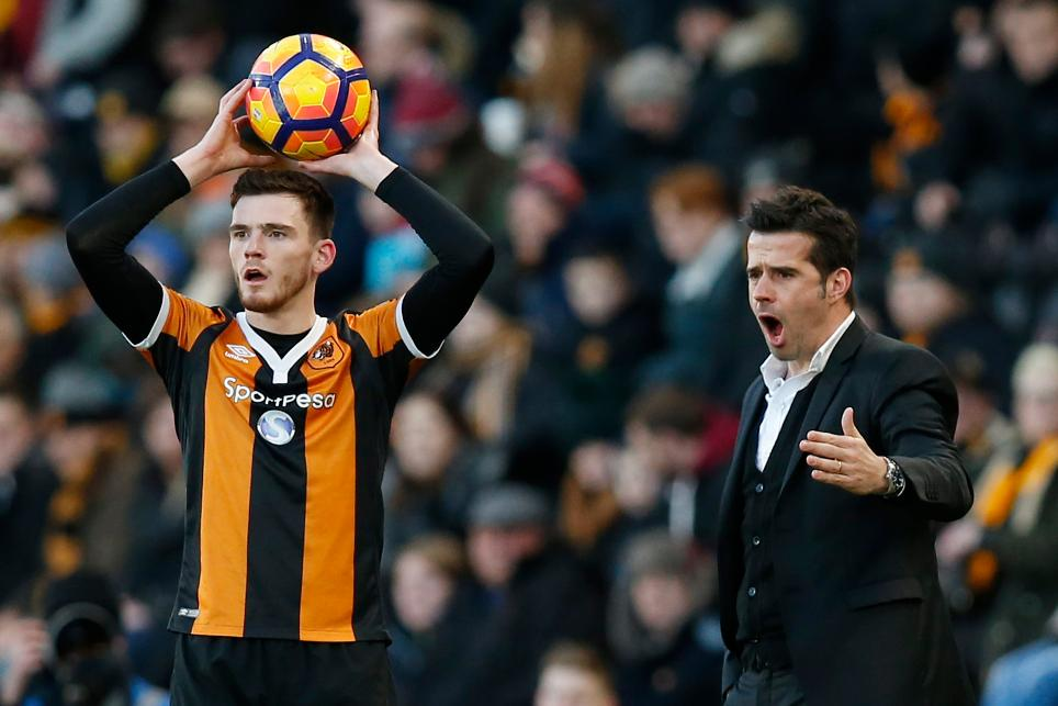 Hull City's Andrew Robertson and Marco Silva