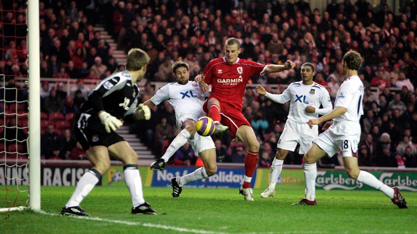 Middlesbrough v West Ham, 21 January