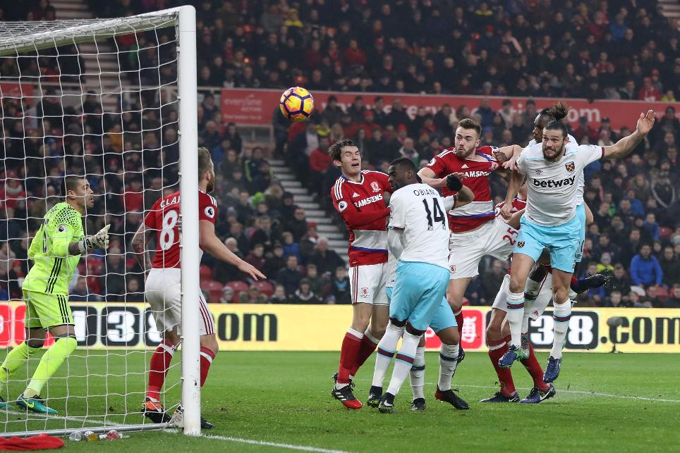 Middlesbrough 1-3 West Ham